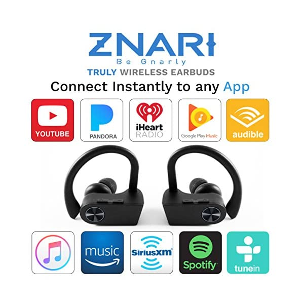 True Wireless EARBUDS Totally Truly Bluetooth 5 Power Pro Sports Beats Noise Cancel Isolation Waterproof IPX7 Black Grey 2