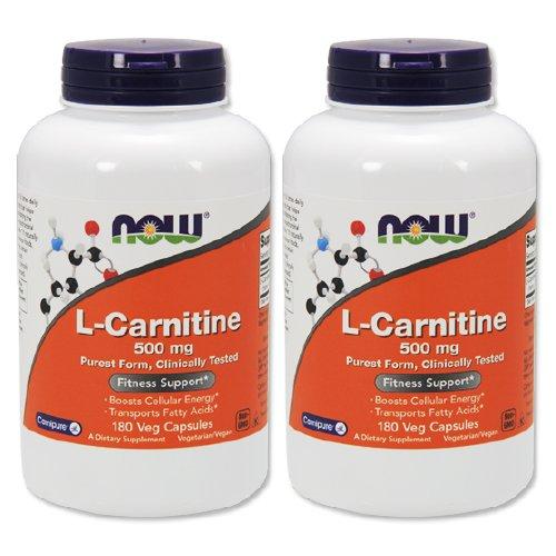 【2個セット】 [海外直送品] 【大増量!】 Lカルニチン 500mg 180粒 L-Carnitine 500mg 180cap B00DH811Y6