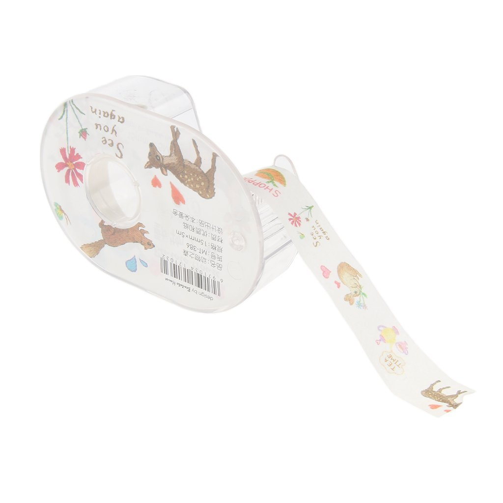 Type1 MagiDeal 9 Types Self Adhesive Washi DIY Masking Tape Diary Sticker Craft Decor