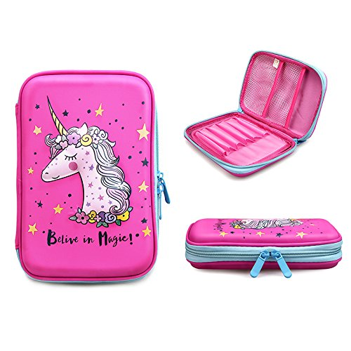 Unicorn Pencil Case by JoJo Kids Cute Pencils Holder | Large Size Crayon Box with Compartments for Girls Keep Kids School Supply Well Organized by Jojo Kids (Image #2)
