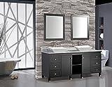 MTD Vanities Belarus-72 Belarus Double Sink Bathroom Vanity Set, 72'', Espresso
