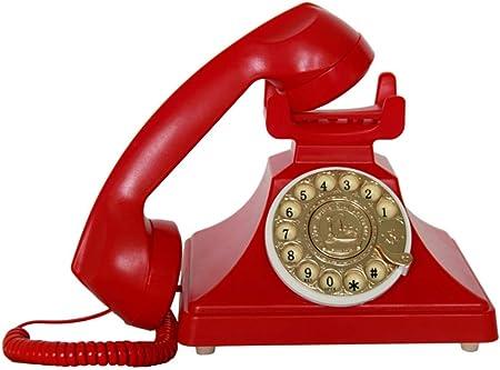 Teléfono telefónico Retro, teléfono rotativo Retro, teléfono Antiguo Europeo, hogar, Oficina, decoración de Tarjetas, teléfono inalámbrico teléfono Fijo tamaño: 19.523.516 cm teléfono Giratorio: Amazon.es: Hogar