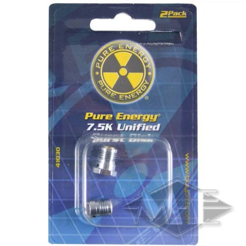 Pure Energy HPA Bottle Burst Disk - 7500psi - 2 Pack