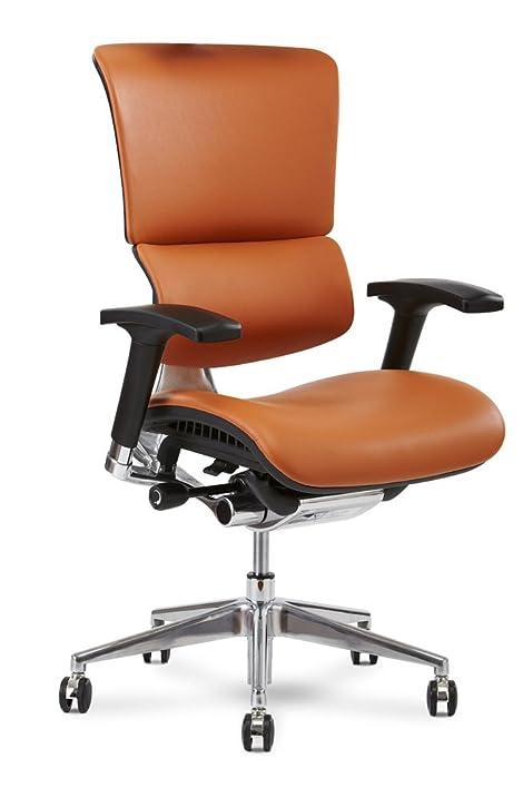 Wonderful X Chair X4 Leather Executive Chair, Cognac Leather