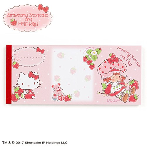 Sanrio Hello Kitty × Strawberry Shortcake folding memo From Japan New (Famous People With Wigs)
