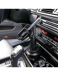 """Cellet Soporte universal ajustable para portavasos extendido para iPhones, iPods, teléfonos inteligentes, reproductores de MP3, sistemas GPS, Altura: 16.51 cm (6.5"""")"""