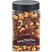 Jaybees Roasted Salted Deluxe Mixed Nuts (18Oz) Great for Holiday Gift Giving or as Everyday Snack Featuring Cashews Almonds Brazil Nuts Pecans and Filberts