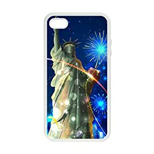SUUER Custom American Flag Beautiful Statue Skin Personalized Custom Hard CASE for iPhone 4 4s Durable Case Cover