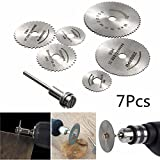 Best to Buy New 7pcs Circular Wood Cutting Saw Blade Discs with Mandrel home depot circular saw blades 7 1 4 inch dremel trio tool kit three combo 3000 3 rotary single speed
