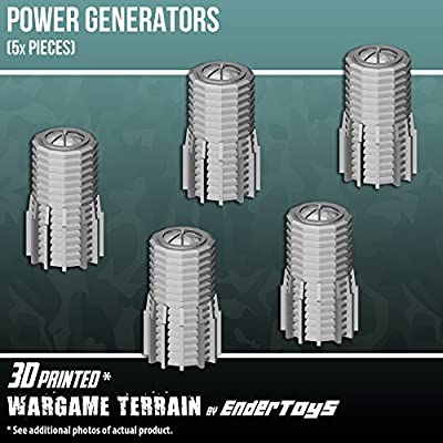 Power Generators, Terrain Scenery for Tabletop 28mm Miniatures Wargame, 3D Printed and Paintable, EnderToys by Seus Corp Ltd.