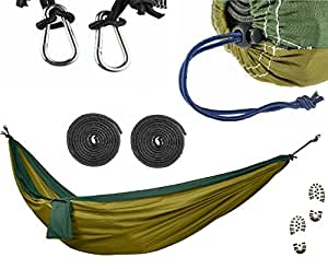 COMMANDO STEVE Camping Hammock Set - ULTRALIGHT Military Grade Canvas + 3x Extra Strength Reinforcement Agent, Extreme Heavy Duty