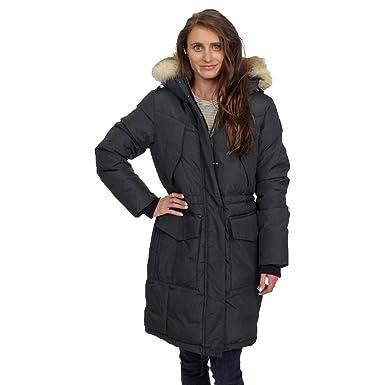 7b8629cb466 Image Unavailable. Image not available for. Color: Pajar Womens Nova  Mid-Length Duck Down Fur Trim Parka Coat ...