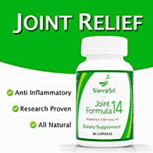 SierraSil Natural Joint Relief Supplement (90 Capsules) Clinically Proven, Anti Inflammatory, Non-GMO, NSF-Certified