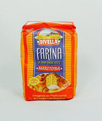 Mehl Manitoba DIVELLA - Weizenmehl Typ 0 - 1 kg Beutel - Farina di Grano Tenero Tipo 0