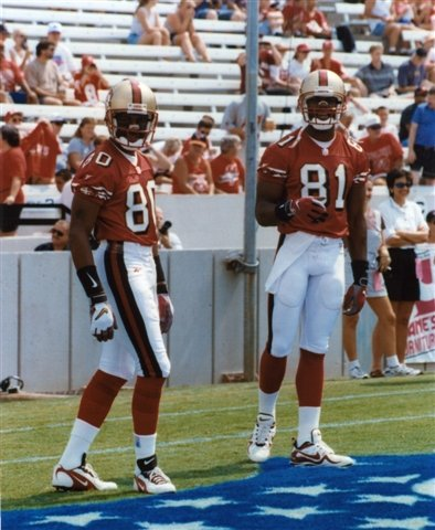 JERRY RICE & TERRELL OWENS SAN FRANCISCO 49ERS 8X10 SPORTS ACTION PHOTO