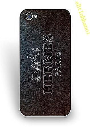 2ddc4a8d4d5 Carcasa para iPhone 5/iPhone 5S Funda para Las niñas, Hermes Marca Logo iPhone  5S Funda - [antiarañazos] - Carcasa Funda Protectora para iPhone 5/5S: ...