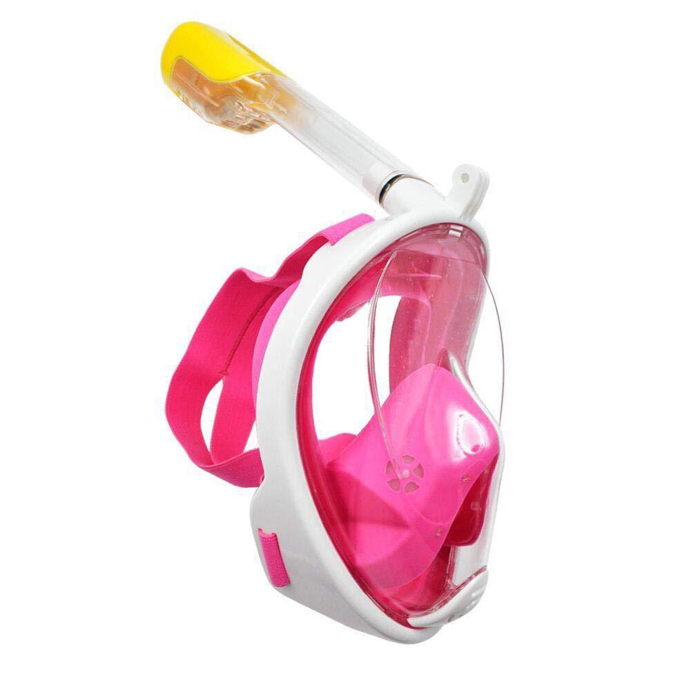 LeKing M/áscara de Buceo m/áscara de Snorkel con Soporte de c/ámara Gopro Bolsa de Malla m/áscara de Buceo de Snorkel m/áscara de Buceo GoPro de Silicona en seco para Adultos//ni/ños