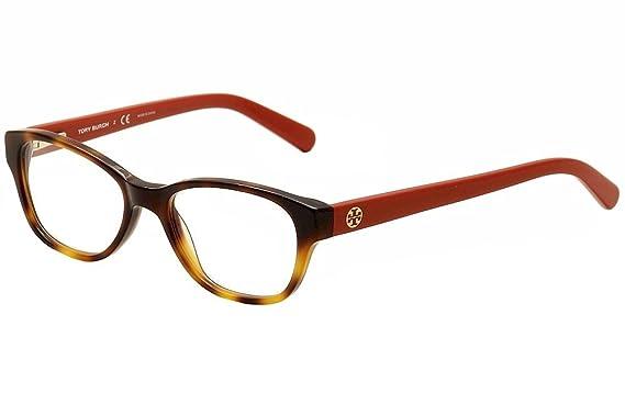 2f21812930756 Amazon.com  TORY BURCH Eyeglasses TY 2031 1162 Amber Orange 51MM ...