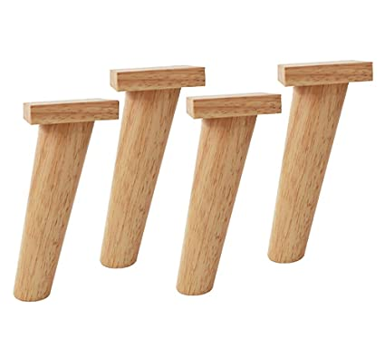 Amazon.com: Furniture legs, Wooden Sofa Legs 4 Sets of logs ...