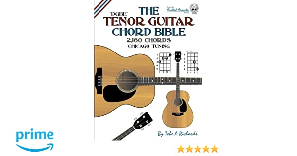 Amazon The Tenor Guitar Chord Bible Dgbe Chicago Tuning 2160