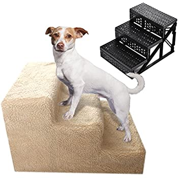 Amazon Com Lykos Soft Portable Cat Dog 3 Steps Ramp