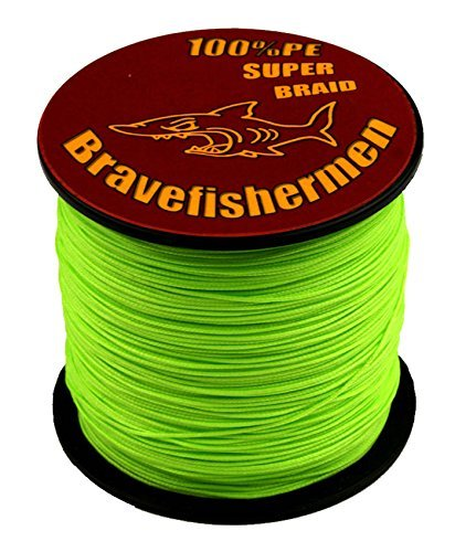 Fluorescent Green Super Strong Pe Braided Fishing Line 6LB to100LB (500m, 10LB) (Best Knot To Join Braid To Mono)