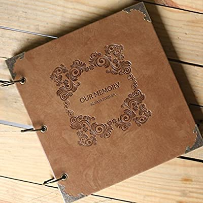 XDOBO Scrapbook Vintage Photo Album Anniversary Scrapbook DIY Photo Albums Vintage Style Recording Our Story Valentines Day Gifts Christmas Gifts