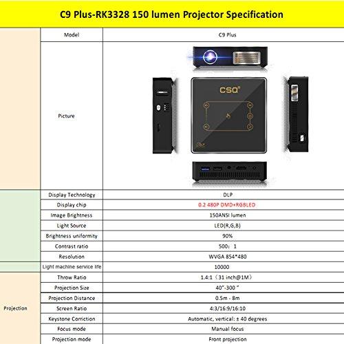 on sale CSQ C9Plus DLP Min Projector 4K Home Theater