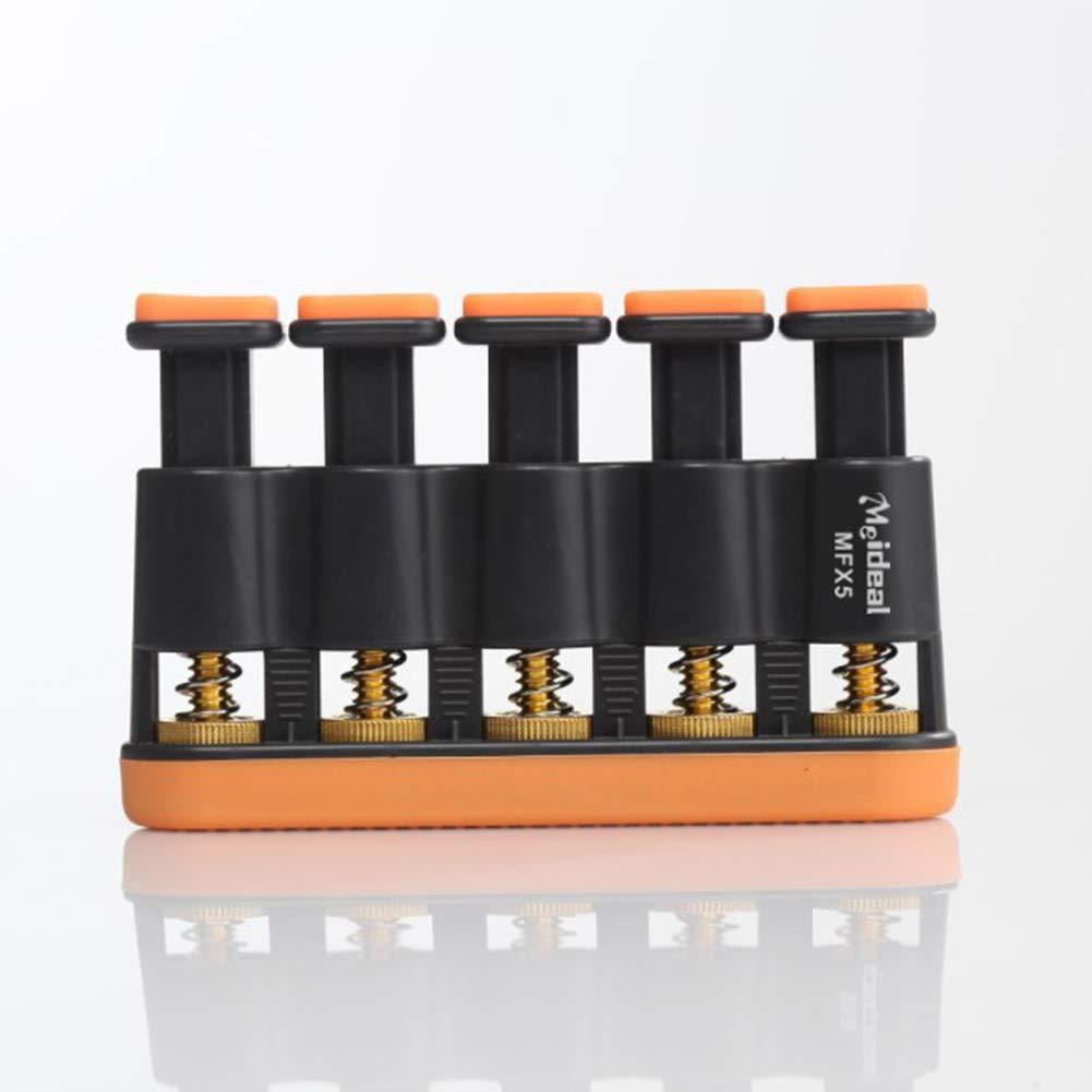 Yiwa Variable Tension Hand Finger Exerciser Grip Trainer for Music Instrument Orange black