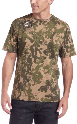 Carhartt Men's Old English Camo Short Sleeve T-Shirt,Light Olive Camo  (Closeout),X-Large
