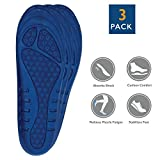 3 Pack Full Length Orthotic Insole/ Insert Relieve Pain Althletic Value Unisex Women US 5-9.5 Memory Foam Fits All Feet (101)