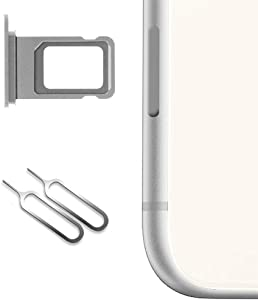 Nano Sim Card Holder for iPhone 11 Replacement (Silver),Sim Card Slot Socket Tray Support with 2 Removal Eject Tools.