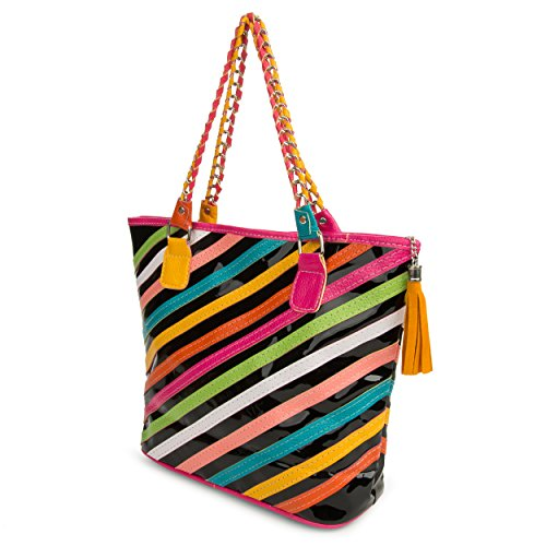 VG Harmony Series Rainbow Crosswise Top Handle Shoulder Handbag / Tote / Purse