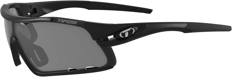 Tifosi Optics Dolomite 2.0 Black//White Clear Cycling Sunglasses with Hardcase