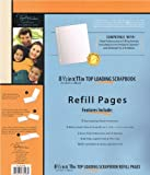 8.5x11 inch top loading scrapbook refill pages