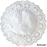 Amkoskr 100 Pcs 12 Inch Round Lace Silver Paper
