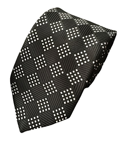 Elegant MENDENG Wedding Necktie Geometry Triangle Men's Black Woven Party Pattern rrwH5F