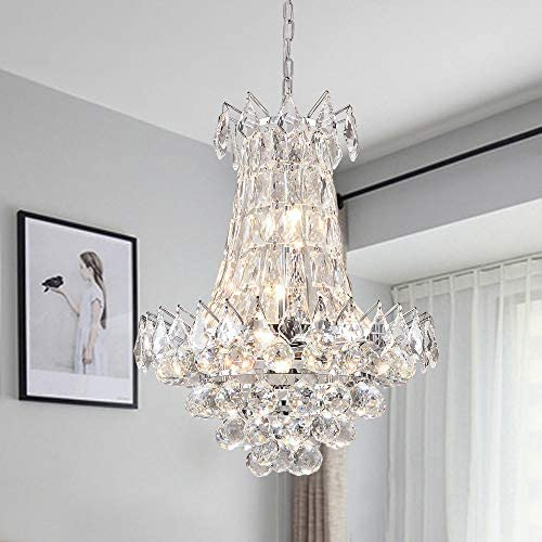 Zgear 6 Lights Luxury Modern/Contemporary Crystal Chandelier Ceiling Light Pendant Light