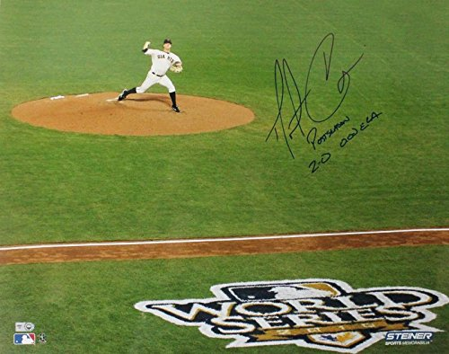 Giants Matt Cain 'Postseason 2-0 O.Oo Era' Signed 16X20 Photo MLB #Lh935261 (X Oo)