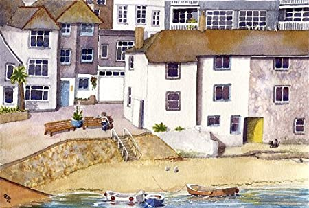St Ives  Cornwall art print from Watercolour painting by Alex Pointer