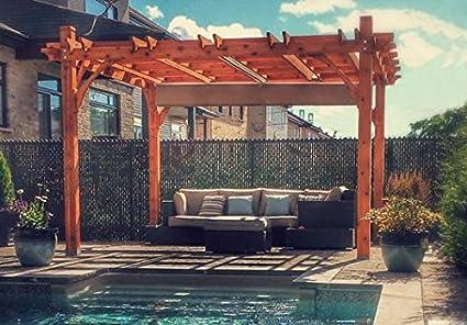 12x12 Breeze Cedar Pergola   With Retractable Canopy