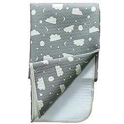 JoJobebe Moon and Cloud Mini Waterproof Sheet Protector for babys, Portable Changing Pad 35.4 x 23.6\