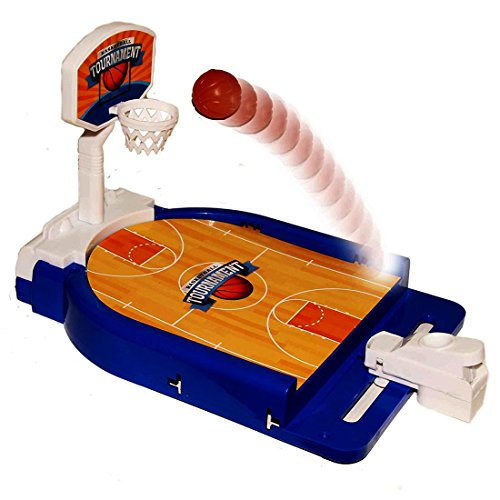 Mini Basketball Tabletop Arcade Game - Miniature Desktop Basketball Novelty Game - Classic Table Top Basketball Skills Game for Ages 5 and Up - Game Room   Birthday Party   BBQ from Toy Cubby