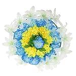 Baoblaze-Artificial-Silk-Flower-Wreath-with-Plastic-Panels-Memorial-Flower-Wreath-Grave-60cm