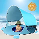 [2019 Upgraded] Baby Beach Tent-Pop Up Beach Tent with Pool Shade Cabana Portable UV Sun Shelter