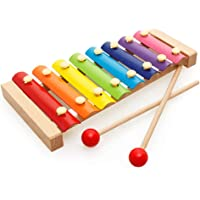 Trinkets & More - Xylophone with 8 Nodes 2 Mallets | First Musical Sound Instrument Toy | Birthday Return Gift Toddlers 6 Months +