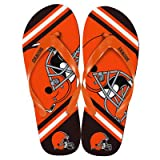 Cleveland Browns 2013 Official NFL Unisex Flip Flop Beach Shoes Sandals slippers size Small