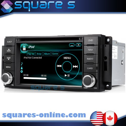 Amazon Com   Jeep Wrangler In Dash Gps Navigation Radio Av Receiver Sd Usb Cd Dvd Player Ipodiphone Ready Bluetooth Hands Free Touch