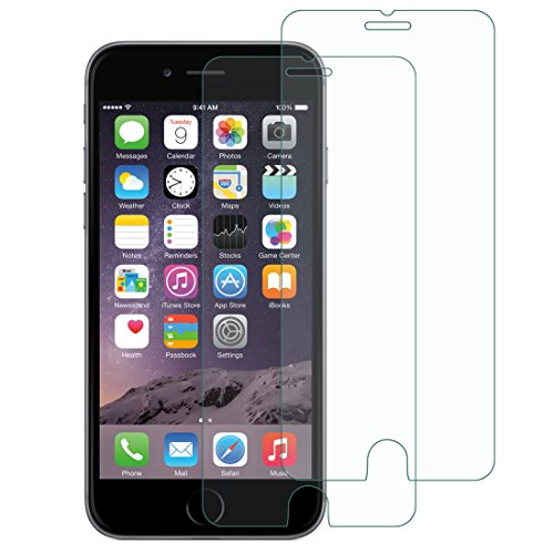 [2 Pack] iPhone 7 Glass Screen Protector, CINORS 9H Anti-Scratch Shatterproof Anti Glare Tempered Glass Screen Protector for iPhone 7 4.7 Inch 2016 with Warranty