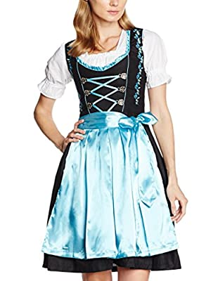 Women's German Dirndl Dress Costumes for Bavarian Oktoberfest Carnival Halloween